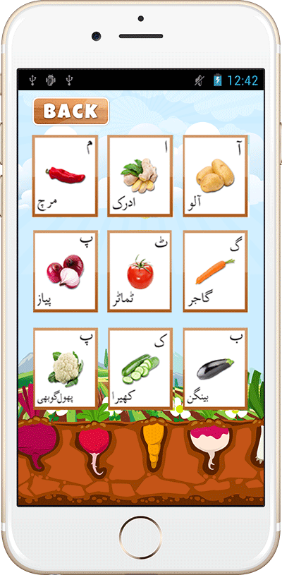 Urdu Vegetables List