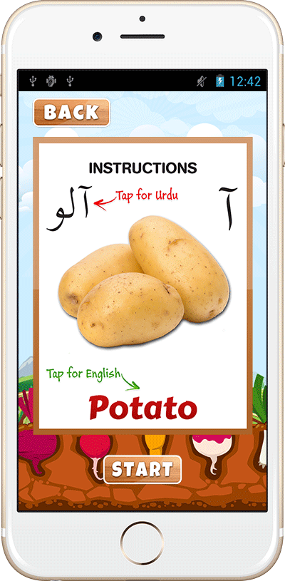 Urdu Vegetables Instruction